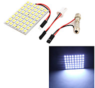 YouOKLight® 1PCS T10 / Festoon 9W 500lm 48 x SMD5050 LED White Light Car Reading Light / Panel Light - (12V)