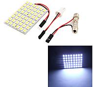 youoklight® 1pcs t10 / festón 9w 500lm 48 x smd5050 llevó coche luz blanca luz de la lectura de la luz / Panel - (12v)