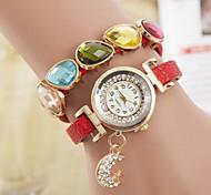 pulseira pingente relógios senhoras da cadeia de moda enrolamento lua relógio jóia das mulheres