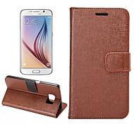 lignes d'oracle classiques pu portefeuille en cuir carte bascule étui de téléphone pour Samsung Galaxy S6 (couleur mixte)