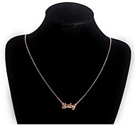 Fashion Baby Stainless Steel Necklace Pendant Necklaces Wedding/Party/Daily/Casual 1pc