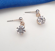 Women's Fashion Gold Filled CZ Zircon Pierced Dangle Earring