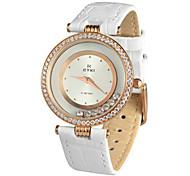 diamantes de imitación de la moda de cuarzo analógico reloj de pulsera para mujer decoración eyki emos8645m-rg '- dos colores opcionales
