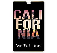 Personalized USB Flash Drive California Design 64GB Card USB Flash Drive