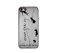 Personalized Gift Never Grow Up Design Aluminum Hard Case for iPhone 5/5S