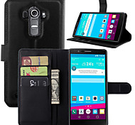 LG G4 Plastic / PU Leather Full Body Cases / Cases with Stand Graphic / Special Design case cover