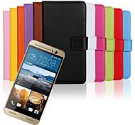 Glattleder Brieftasche Karte PU-Kasten mit Standplatz für HTC One m9 plus (verschiedene Farben)