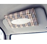 auto parasole scatola di tessuto accessori auto portatovaglioli di carta clipboard custodia in pelle pu