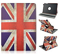 For Samsung Galaxy Case with Stand / Flip / 360° Rotation / Pattern Case Full Body Case Flag PU Leather Samsung Tab A 9.7