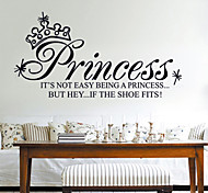 Fashion English Letters Priness Girls Room PVC Wall Sticker Wall Decals
