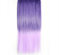 color mezclado pedazo del pelo recto extensión sintética del pelo de fibra de alta temperatura