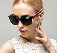 Sonnenbrillen mujeres's Elegant / Modern / Modisch Katzenauge Schwarz / Weiß / Rot / Lila / Grau Sonnenbrillen Vollrandfassung