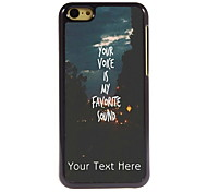 Personalized Gift You Voice is My Favorite Sound Design Aluminum Hard Case for iPhone 5C