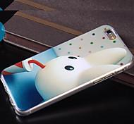 modèle de dessin animé mignon TPU étui transparent couverture souple pendant 5s apple iphone cas