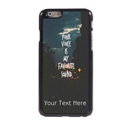 Personalized Gift You Voice is My Favorite Sound Design Aluminum Hard Case for iPhone 6 Plus