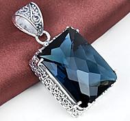 unico fuoco antica piazza london blu topazio gioiello in argento 925 ciondoli collane per la festa nuziale quotidiano 1pc casuale