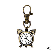 Vintage Fashion Watch Creative Alarm Clock Pendant Necklace Pocket Watch Key Ring Watch For Men Women Gift Cool Watches Unique Watches