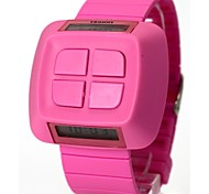 Women's Fashion Plastic Band Digital Watch (Assorted Colors)