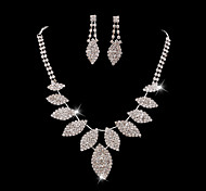 Z&X® Alloy Fashion Rhinestone Leaves Jewelry Set Party/Wedding 1set(Including Necklaces/Earrings)