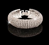 Bracelet Chaîne / Tennis / Diamètre intérieur Alliage Cristal Femme