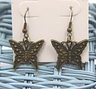 Beautiful Butterfly Bronze Earrings