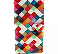 For Samsung Galaxy Case Card Holder / with Stand / Flip / Pattern / Magnetic Case Full Body Case Geometric Pattern PU Leather SamsungA7 /
