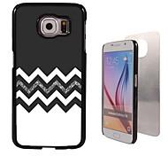 de zwart-wit ontwerp aluminium koffer voor Samsung Galaxy s6