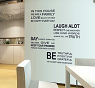 Black Letters We Are Family PVC Wall Sticker Wall Decals
