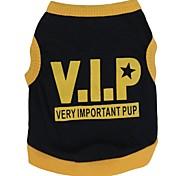 Dog T-Shirt - XS / S / M / L - Summer - Black / Yellow / Orange - Cosplay - Cotton