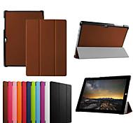 10,8-Zoll-Dreifach-Faltung Qualitäts-PU-Leder Tasche für Microsoft Surface 3 (verschiedene Farben)