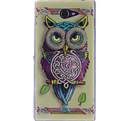 Personality Owls Pattern TPU Soft Case for Sony Xperia M2