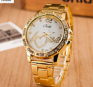 Women's Fashion Watch Swiss Designer Quartz Alloy Band Heart shape Yellow