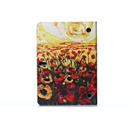 Oil Painting Flower Sea PU Leather Full Body ABS Case with Holder for Samsung Galaxy T800 /Tab S 10.5