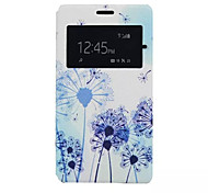 Dandelion Pattern PU Leather Phone Case For Sony C4
