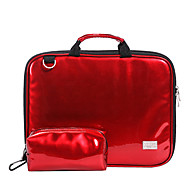 Japan and Korea Fashion Waterproof Bright Red Macbook Briefcase Bag