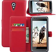 litchi alrededor paréntesis abierto cartera de tarjeta de teléfono de cuero adecuado para htc desire 620 (color clasificado)