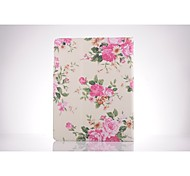 Rose Pattern PU Leather Full Body TPU Case with Card Holder for Ipad 2/ Ipad 3/Ipad 4