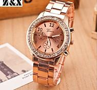relógio de forma lazer pulso cinta de aço de quartzo das mulheres (cores sortidas)