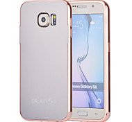 Magic Spider®Rose Gold Mirror Design Metal Bumper Removeable Hard Back Case with Screen Prptector for Samsung Galaxy S6