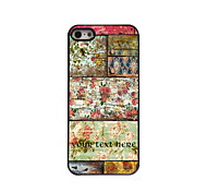 Personalized Gift Retro Flower Design Aluminum Hard Case for iPhone 5/5S