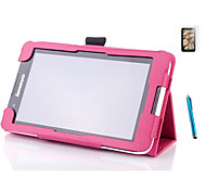 "Folding Folio Leather Case Stand Case Cover For Lenovo A3300 A7-30 7"" Tablet+ Free Screen Protective + Stylus Pen"