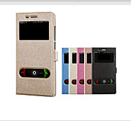 Xiaomi Mi4i Case Silk View Windows Wallet Case Flip Cover Leather Cases Stand For Xiaomi Mi4i Mi4 i M4i mobile Phone
