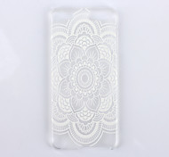 White Mandala Flower Pattern PC Hard Back Cover Case for iPod Touch 5