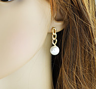 New Coming Long Hanging Women Imitation Latest Designs Of Pearl Earrings