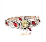 Sjewelry Fashion Lady Women Girl Quartz Colorful Crystal Wrist Watch Gifts