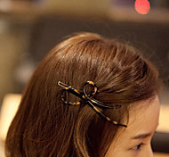 European Style Fashion Style Leopard Bow Hairpin