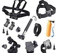 15-in-1 esterna calda accessori della fotocamera sport Kit per GoPro eroe 4 / 3+ / 3/2/1