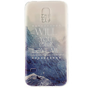neve modello montagna materiale TPU soft phone per mini galassia s5
