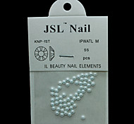 Pearl3mm 60pcs/lot 3mm Lovely White Half Round Pearls Imported Pearls Nail Accessories Phone Decorations
