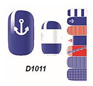 Fashion Ship Spear Nail Art Glitter Sticker